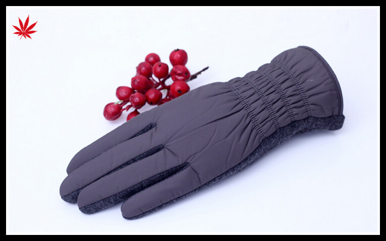 women feather cloth micro velvet hand gloves