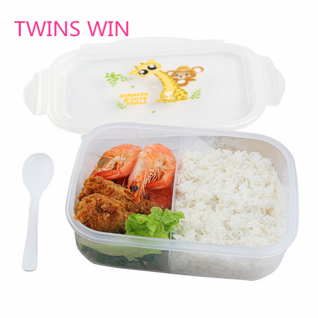 indian Hot selling kitchenware products wholesale free sample best quality clear pp <strong>plastic</strong> 2 compartment bento lunch box 040