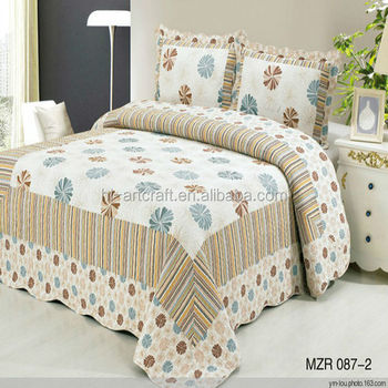100% Cotton Fabric Handmade Bed Sheets Design