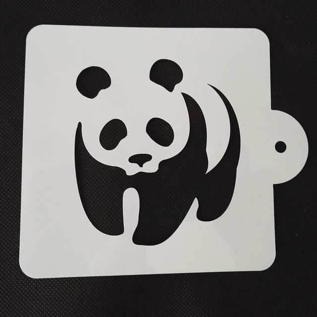 Panda bear logo cake ideas and designs for Panda bear cake template