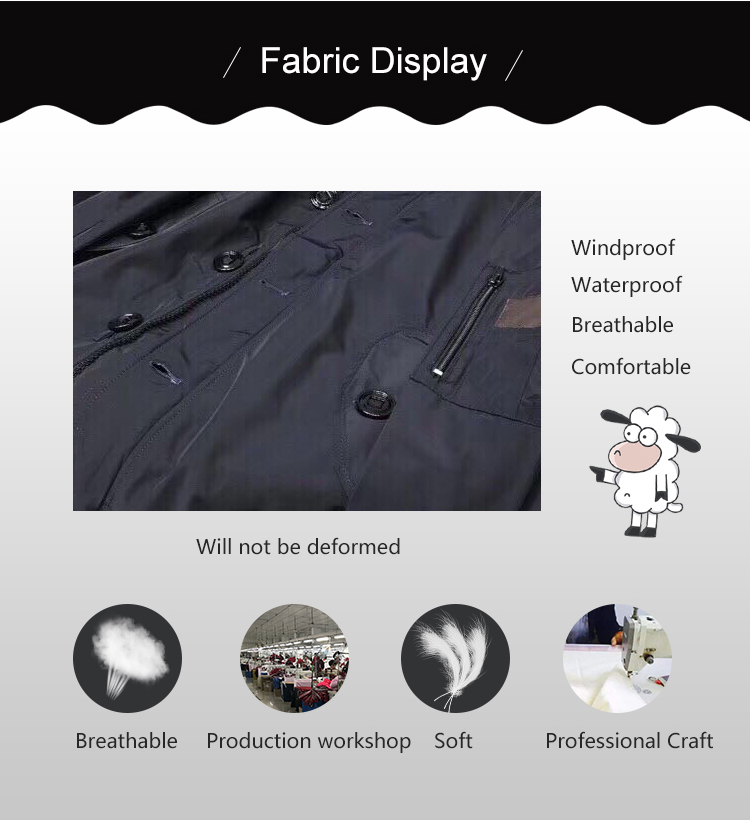 Waterproof Windproof Fashion Jacket Coat Sport Bomber Jacket For Men