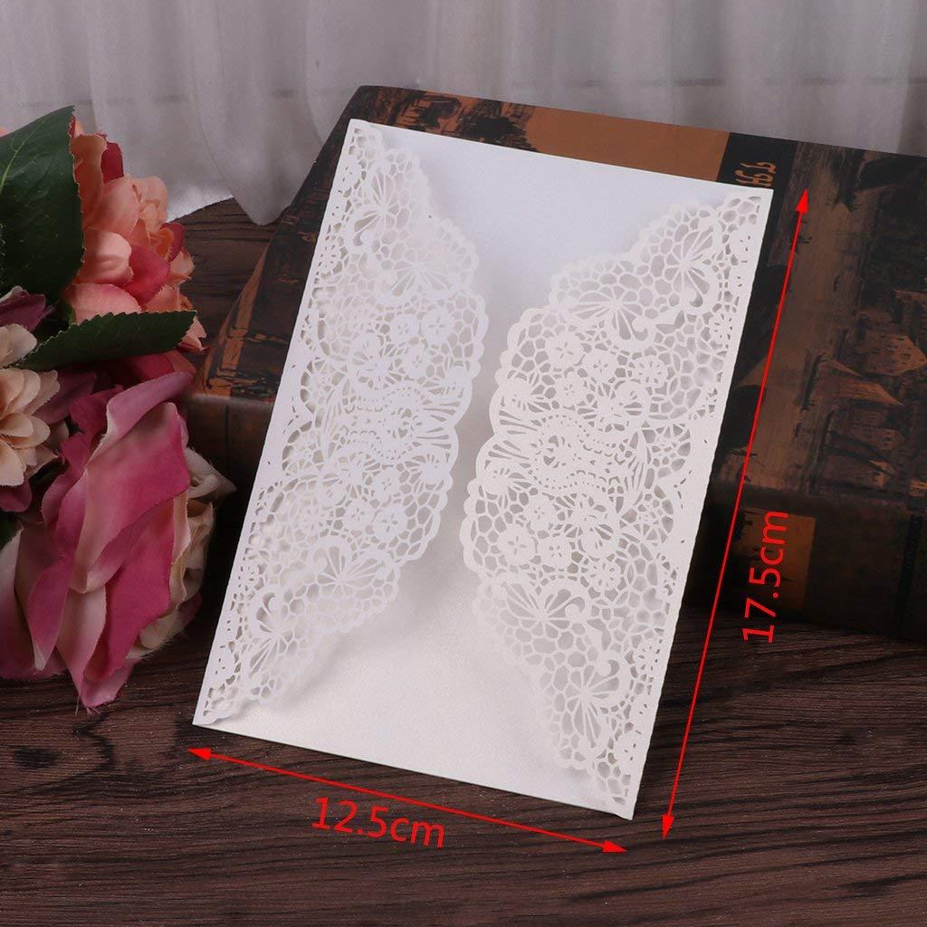 Kalttoyi 10Pcs Wedding Invitation Cards Kit with Envelopes Seals Personalized Printing