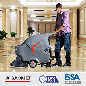 GM50B small floor scrubber dryer cleaning machine used in tarmac road