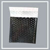 Shipping mailing bags black metallic bubble envelope with matt and shiny material