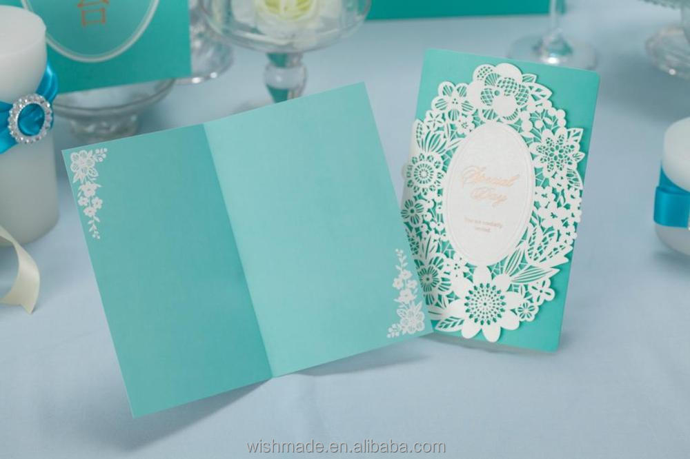 Muslim wedding invitations turquoise