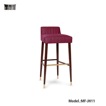 Most Popular Hotel bar stools bar chairs Modern Stainless Steel Barstools Chairs