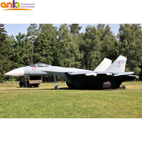 Real size Floating Inflatable Plane Replica,Inflatable Army military Fighter Jet Model for Decoy