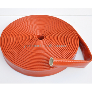 silicone fiberglass high temperature resistance hose fire proof sleeve
