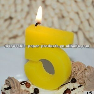 Wholesale Yellow Birthday Candles 0 9 1 2 3 4 5 6 7 8