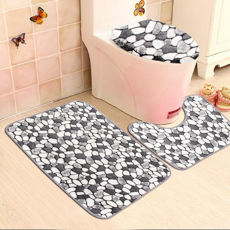 2019 Wholesale Non Slip Washable Floor Carpet Bath Mat Pedestal