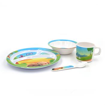 Safety A5 100% Melamine Baby Dinner Set, Puppy Pattern Design Kids Dining  Set