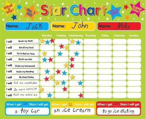comportement graphique enfants aimant Gold Star Chart Children/'s Reward Chart