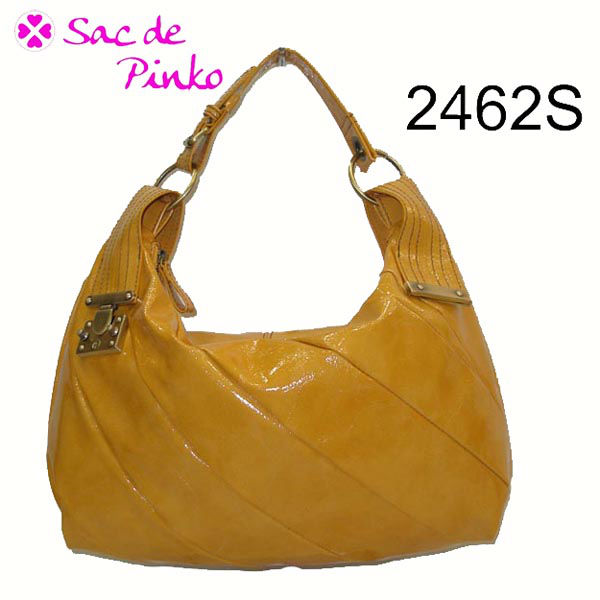 2013 trendy lady brass metal shiny oil-tan leather hobo handbag