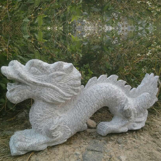 Carved Granite Sculptures Stone Dragon For Garden Decor
