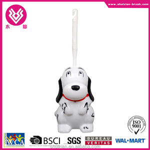 Modern style cute Snoopy shaped plastic toilet brush