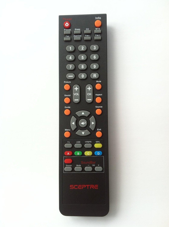 New SCEPTRE DVD + Sound bar Combo TV Remote Control for E325 E245BD-FHDU E325BV-HDC E325-E328BV-FMD E328BD-HDC E475BV-FMDU X322BV-HDR E328BV-HDH , E243BD-FHD , E246BD-FHD , X405BV-FHD X322BV-HDR X325BV-FMDR E328BV-HDH E243BD-FHD E246BD-FHD X405BV-FHD and all Sceptre Combo DVD + Sound bar Combo LCD