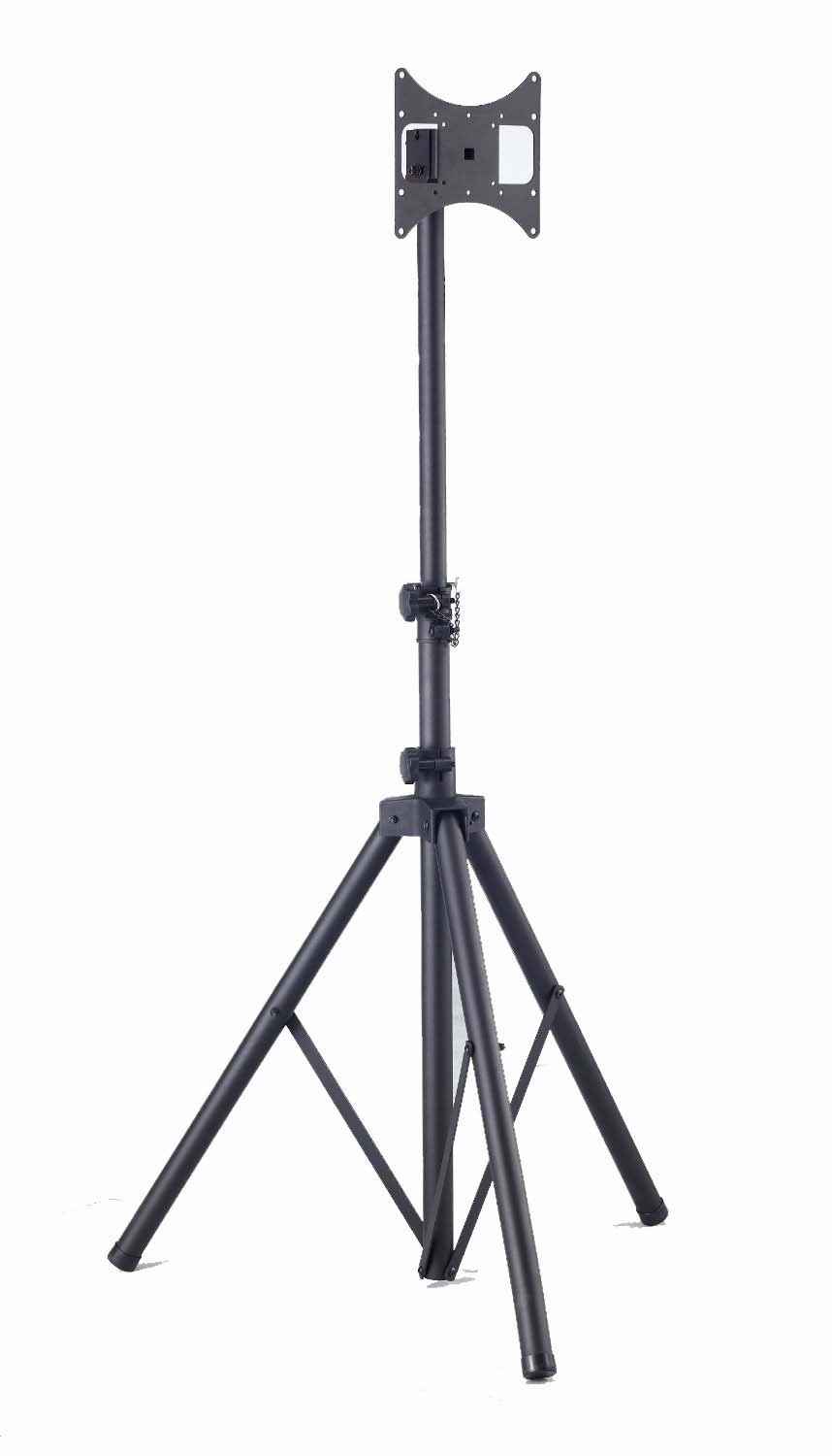 """Elitech Steel Portable Plasma or LCD TV Tripod Stand for up to 37"""" Flat Panel TV, Height Adjustable. Max Stand Height 70"""""""