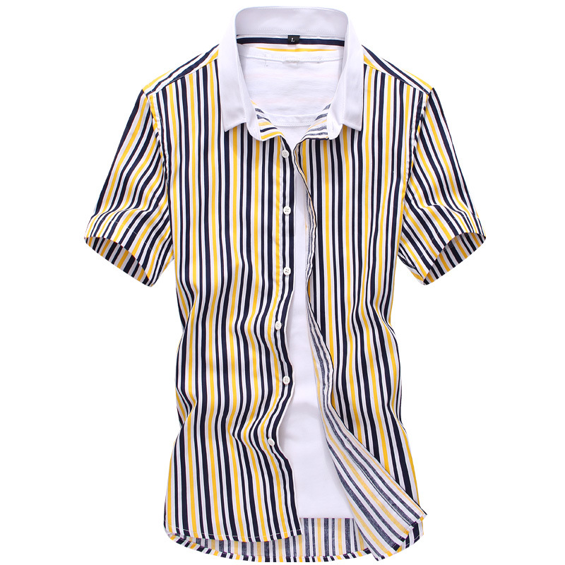 604012005 Get Quotations · Men Fashion Casual Short Sleeve Shirts Mens Slim fit 2015  New Summer Spring Brand new banded