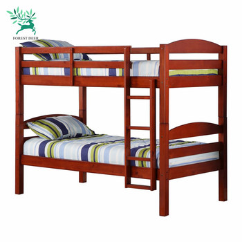 wholesale soiid wood furniture wood double bunk bed