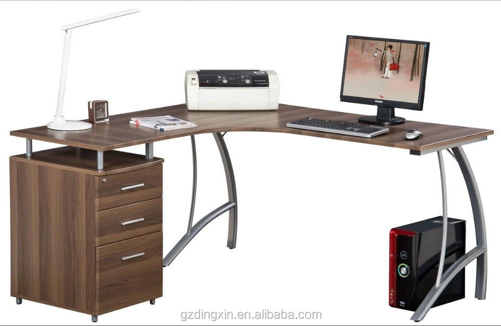 gro e ecke computer schreibtisch mit a4 h ngeregister schublade 2 person schreibtisch dx e110. Black Bedroom Furniture Sets. Home Design Ideas