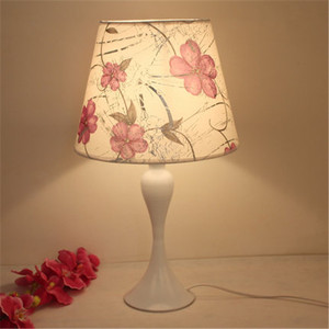 antique drum hardback lamp shades printing varieties flowers and living room downlight table lamp