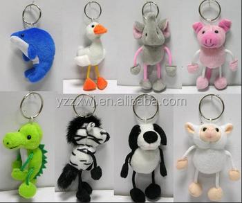 plush animal keychain toys for sale elephant pig dolphin sheep stuffed  animal keyring plush custom keychain 626eaa7a43e8