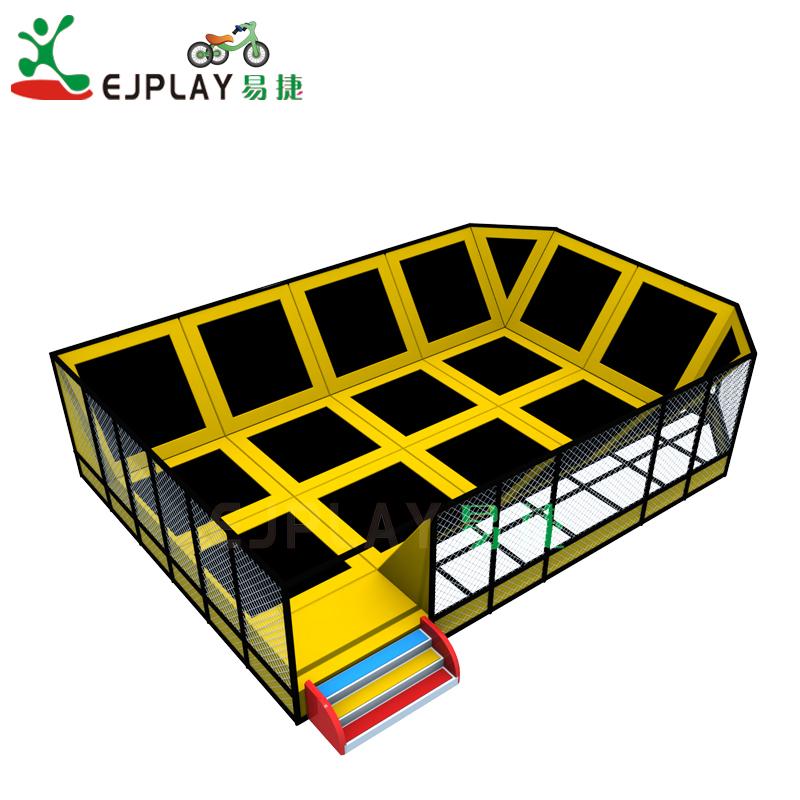 Hot sale colorful indoor jump trampoline for amusement park