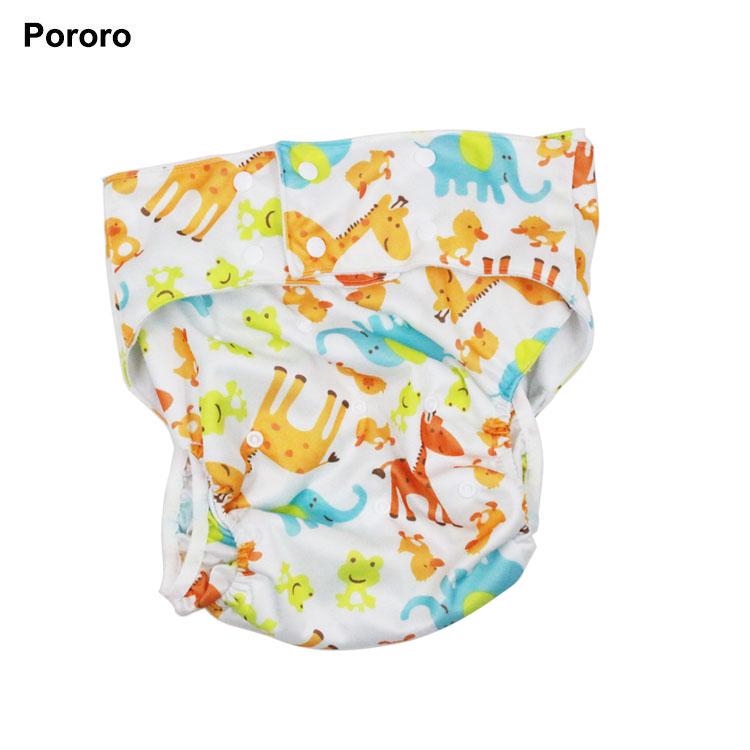 9a5afcc64ebe Impresión Pul poliéster adulto ajustable del pañal del paño de gamuza de  tela material Interior bolsillo