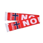 Retro style cheap football scarf acrylic material neck warmer