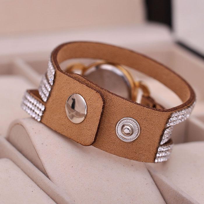 Новинка часы женщины круглый циферблат кожаный ретро кварцевые часы 8 цветов KJ702