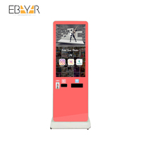 42inch photo kiosk with tag features and logo branding on photo frame