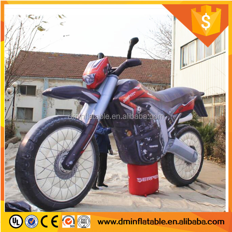 Giant inflatable motorcycle model/large motorcycle replica