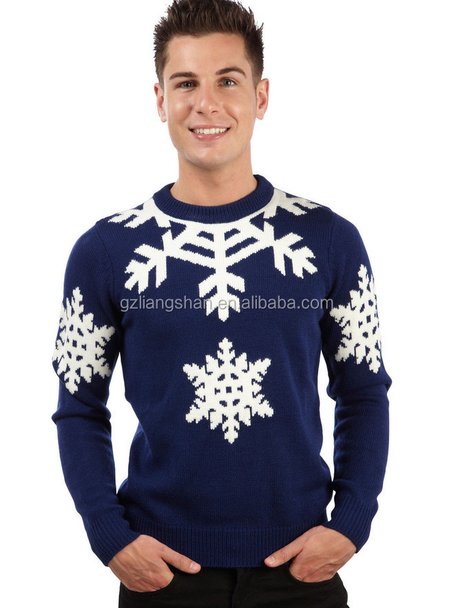 Kersttrui Man.Mens Christmas Novelty Knitted Top New Christmas Sweater Buy