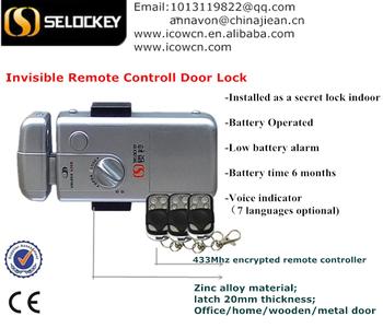 New Product, Hidden Door Lock, Without Cylinder China Supply High Security  Steel Door Lock