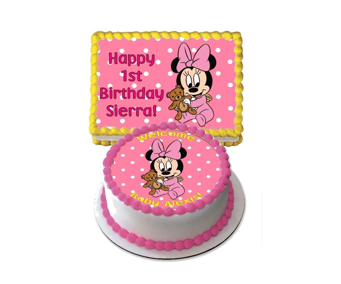 Awe Inspiring Cheap Baby Minnie Mouse Cake Topper Find Baby Minnie Mouse Cake Funny Birthday Cards Online Elaedamsfinfo