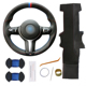 Custom Hand Sewing Leather Steering Wheel Cover for BMW F87 M2 F80 M3 F82 M4 M5 F12 F13 M6 F85 X5 M F86 X6 M F33 F30 M Sport