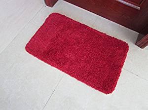Get Quotations · Blending Supersoft Toilet Skid Absorbent Carpet Bathroom  Bedroom Mats Doormat Ottomans Living Room Door Mat Red