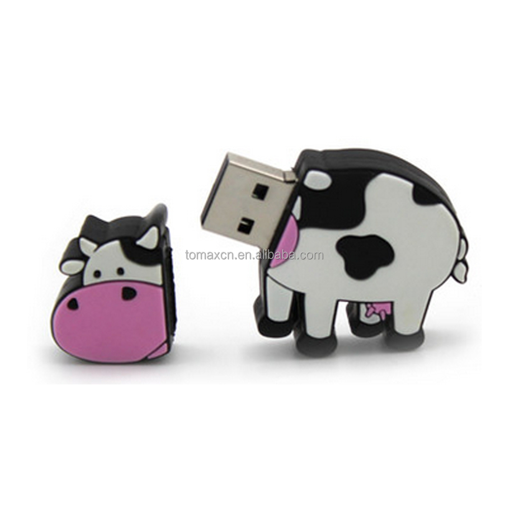 Free shipping USB2.0 PVC Caw shape USB flash drive 8G 16G 32G 64G Animal Pendrive