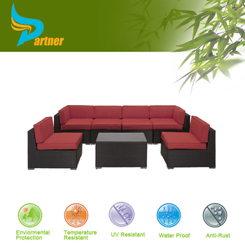 Exceptional PTN E 514 5 New Design Red Apple Furniture China 7 Piece Sectional