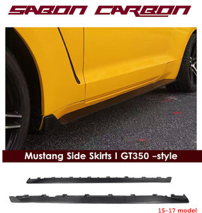 GT350 style carbon fiber side skirts for FORD Mustang 2015-17