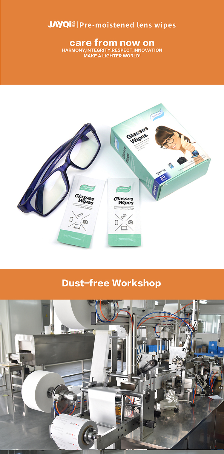 Logo printed lens clean wet wipes lens and screen cleaning wipes