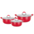 High Quality Durable sauce pot aluminum casserole with colorful soft touch ears