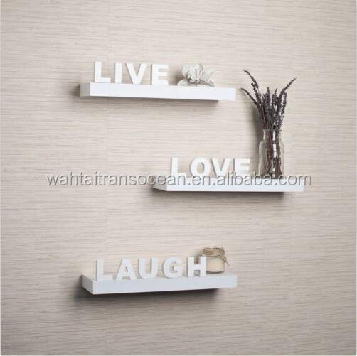 Live Laugh Love Wall Decor Mounted Shelves Art Plaque Wood Home Furniture Room