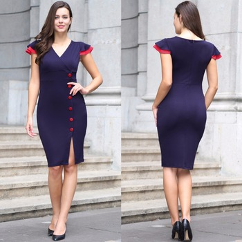41d878996a Amazon hot style European and American autumn winter ladies professional  dress
