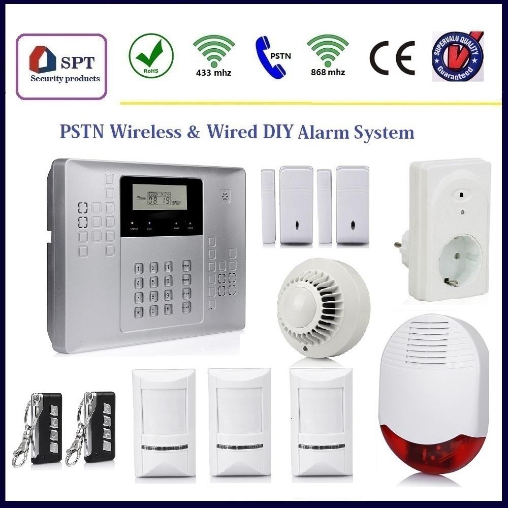 Wireless alarm system auto dialer alarm system 868mhz for Buy house alarm system