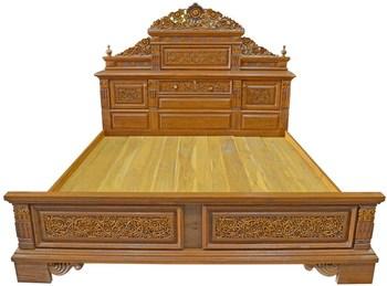 Furniture Teakwood Louis Bed (t)