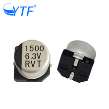 general purpose smd film watch spare parts capacitors 6.3V 1500UF