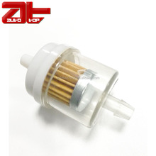 Universal Inline Fuel Filter Replacement, 1/4'' Plastic Gasoline Fuel Filters For Motorcycle Scooter ATV Small Engine