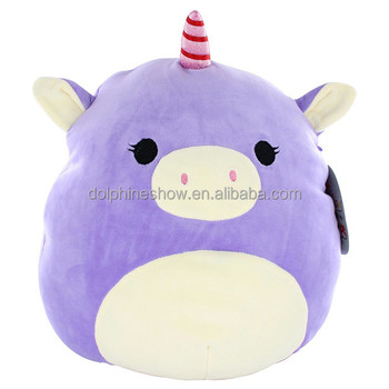 Cartoon Purple Plush Pig Toy With Horn Wholesale Cheap Stuffed