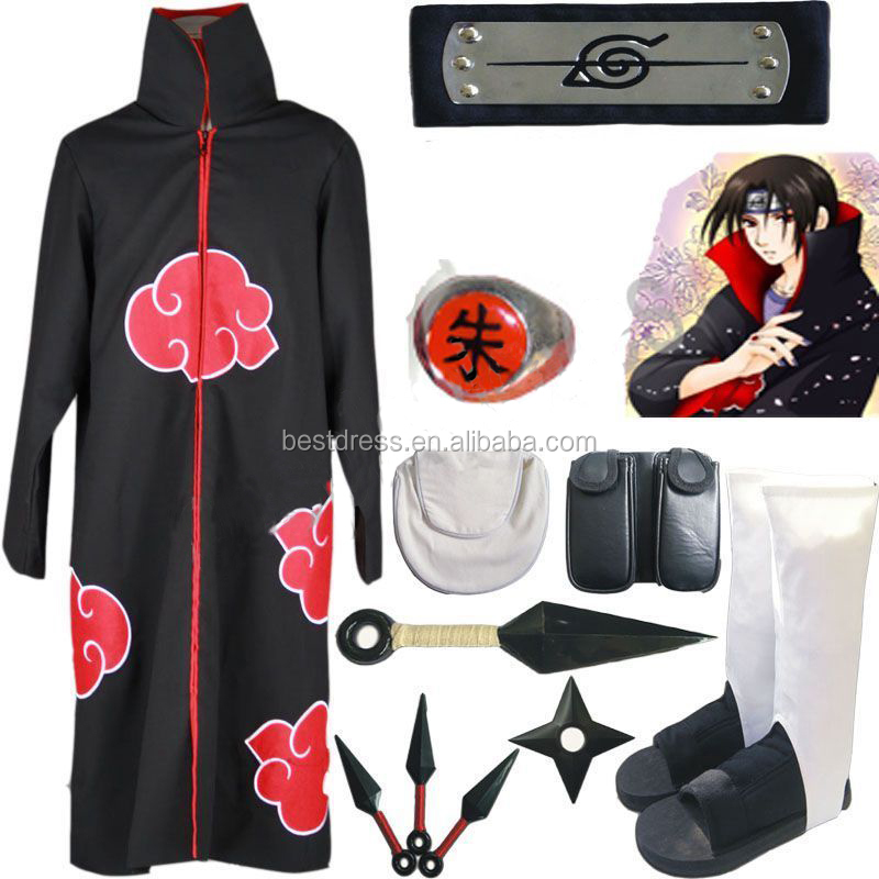 walson instyles Naruto Itachi Uchiha Cosplay Costume White Shoes Whole set